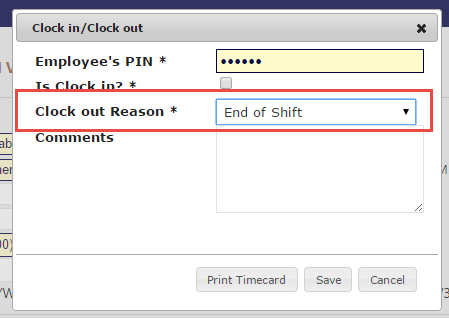 using the employee clock evetpractice com